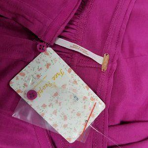 Free People Tops - Free People Raspberry Keepin' On Tie Sleeve Crop